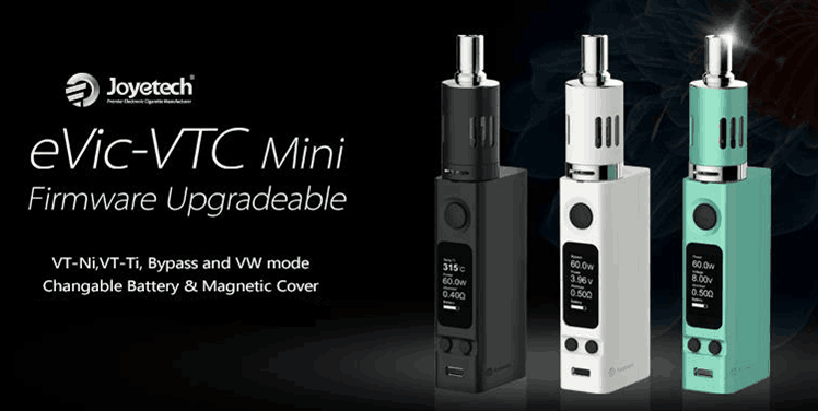 KIT - Joyetech eVic VTC Mini Sub Ohm 60W Full Kit ( Black )