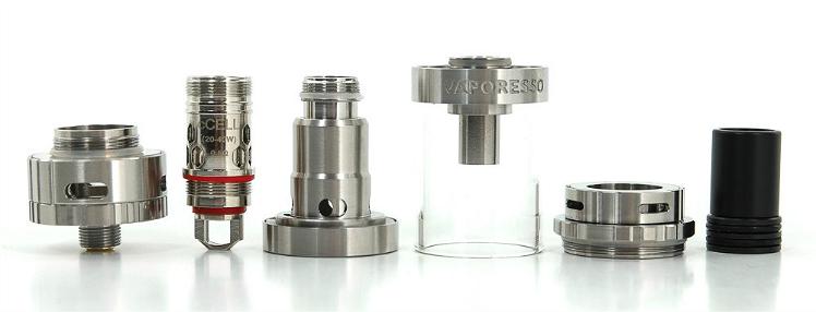 ΑΤΜΟΠΟΙΗΤΉΣ - VAPORESSO Gemini cCell Ceramic Coil Atomizer ( Silver )