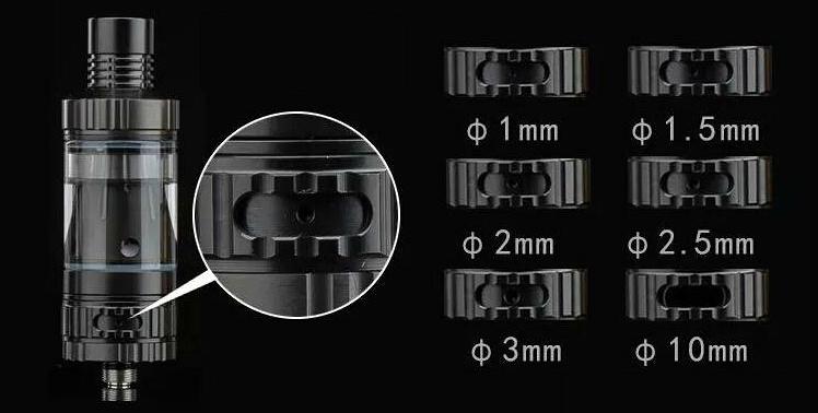 ΑΤΜΟΠΟΙΗΤΉΣ - VISION / VAPROS KinTa Ceramic Coil Atomizer with RBA Kit ( Black )