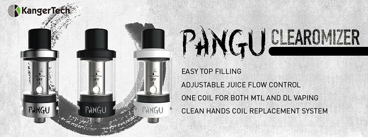 ΑΤΜΟΠΟΙΗΤΉΣ - KANGER PANGU Clean Hands Tank Atomizer ( Black )