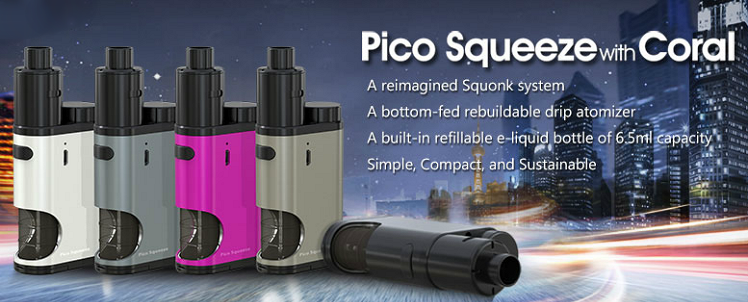 KIT - Eleaf Pico Squeeze Squonk Mod Full Kit ( Grey )