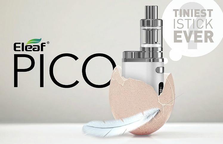 KIT - Eleaf iStick Pico 75W TC Full Kit ( White & Bronze )
