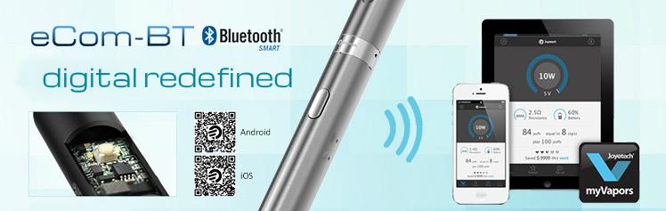 KIT - JOYETECH eCom BT ( Bluetooth Wireless ) 650mA Μονή Κασετίνα - 100% Αυθεντική - ( ΜΑΥΡΟ )