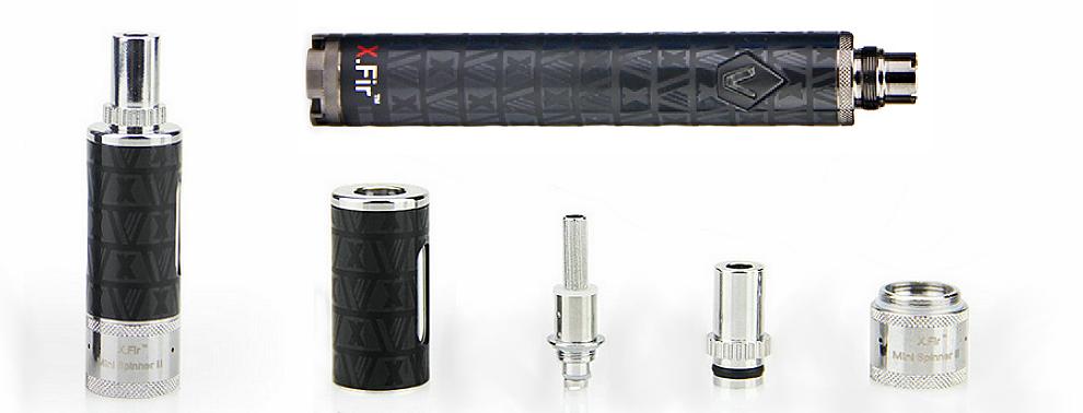 KIT - VISION / VAPROS Spinner 2 (II) Mini 850mA VV BDC Κασετίνα ( 3.3V - 4.8V ) - 100% Αυθεντική ( ΜΑΥΡΟ )