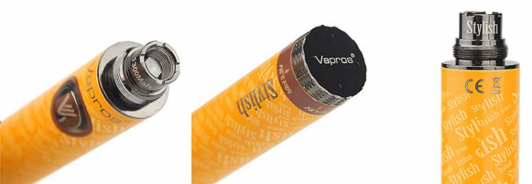 ΜΠΑΤΑΡΙΑ - VISION / VAPROS Stylish V1 1300mA μπαταρία μεταβλητής τάσης ( ΠΟΡΤΟΚΑΛΙ)