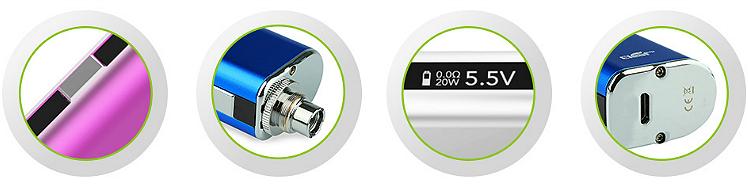 KIT - Eleaf iStick 20W - 2200mA VV/VW ( ΑΣΗΜΙ )