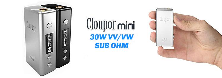 KIT - Cloupor Mini 30W Sub Ohm - 18650 VV/VW ( Black )