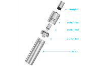 KIT - Joyetech eGo ONE Mega 2600mAh Sub Ohm Kit ( Stainless ) εικόνα 4