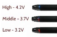 KIT - Janty eGo C VV 900mAh ( Διπλή Κασετίνα - Μεταβλητής Τάσης - ΜΑΥΡΟ )  εικόνα 3