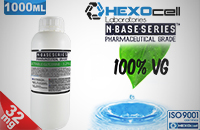 D.I.Y. - 1000ml HEXOcell eLiquid Base (100% VG, 32mg/ml Nicotine) εικόνα 1