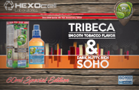 60ml TRIBECA & SOHO SPECIAL EDITION 9mg High VG eLiquid (With Nicotine, Medium) - Natura eLiquid by HEXOcell εικόνα 1