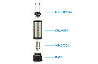 ΑΤΜΟΠΟΙΗΤΉΣ - V-Spot VDC Atomizer ( ΜΑΥΡΟ ) εικόνα 2