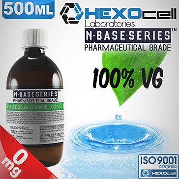 D.I.Y. - 500ml HEXOcell eLiquid Base (100% VG, 0mg/ml Nicotine)