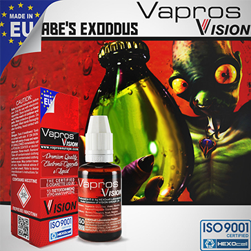 30ml ABE'S EXODDUS 9mg eLiquid (With Nicotine, Medium) - eLiquid by Vapros/Vision