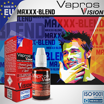 30ml MAXXX BLEND 9mg eLiquid (With Nicotine, Medium) - eLiquid by Vapros/Vision