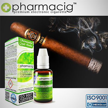 30ml CIGAR TOBACCO 18mg eLiquid (With Nicotine, Strong) - eLiquid by Pharmacig