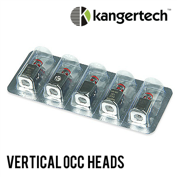 ΑΤΜΟΠΟΙΗΤΉΣ - 5x KANGER Vertical OCC Atomizer Heads V2 (1.5Ω)