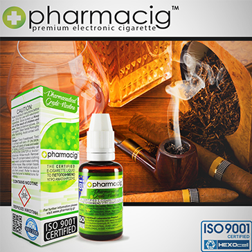 30ml TOBACCO & COGNAC 9mg eLiquid (With Nicotine, Medium) - eLiquid by Pharmacig