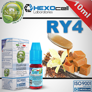 10ml RY4 18mg eLiquid (With Nicotine, Strong) - Natura eLiquid by HEXOcell