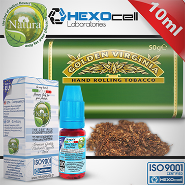 10ml VIRGINIA 9mg eLiquid (With Nicotine, Medium) - Natura eLiquid by HEXOcell
