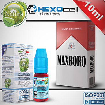 10ml MAXBORO 18mg eLiquid (With Nicotine, Strong) - Natura eLiquid by HEXOcell