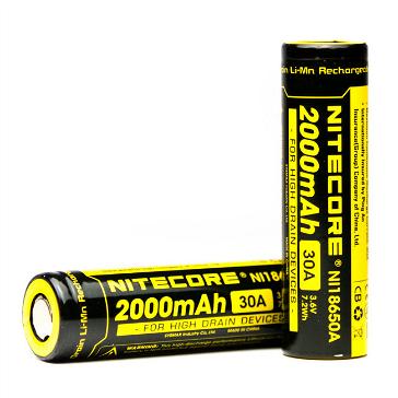 ΜΠΑΤΑΡΙΑ - Nitecore IMR 18650 2000mAh 30A Battery ( Flat Top )