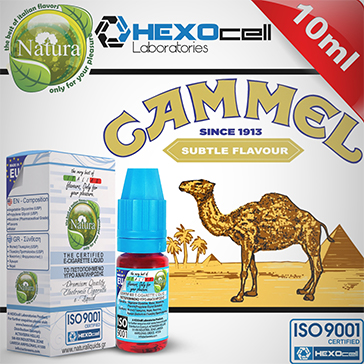10ml CAMMEL 9mg eLiquid (With Nicotine, Medium) - Natura eLiquid by HEXOcell
