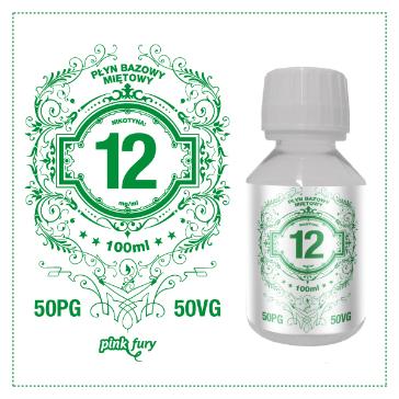 D.I.Y. - 100ml PINK FURY Menthol Base (50% PG, 50% VG, 12mg/ml Nicotine)