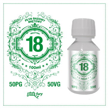 D.I.Y. - 100ml PINK FURY Menthol Base (50% PG, 50% VG, 18mg/ml Nicotine)