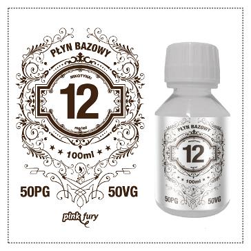 D.I.Y. - 100ml PINK FURY Neutral Base (50% PG, 50% VG, 12mg/ml Nicotine)