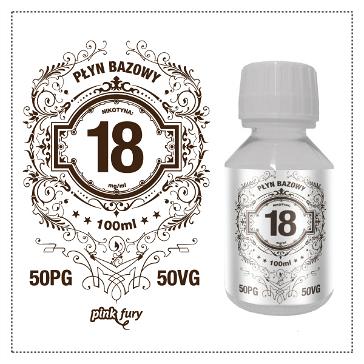 D.I.Y. - 100ml PINK FURY Neutral Base (50% PG, 50% VG, 18mg/ml Nicotine)