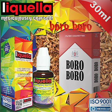 30ml BORO BORO 9mg eLiquid (With Nicotine, Medium) - Liquella eLiquid by HEXOcell