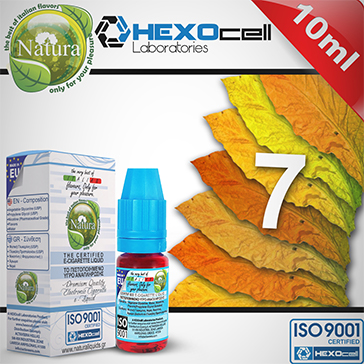 10ml 7 FOGLIE 3mg eLiquid (With Nicotine, Very Low) - Natura eLiquid by HEXOcell