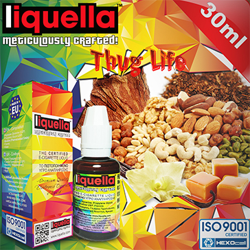 30ml THUG LIFE 0mg eLiquid (Without Nicotine) - Liquella eLiquid by HEXOcell