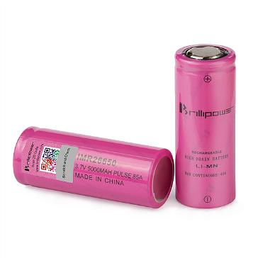 ΜΠΑΤΑΡΙΑ - Brillipower IMR 26650 5000mAh 85A Battery ( Flat Top )