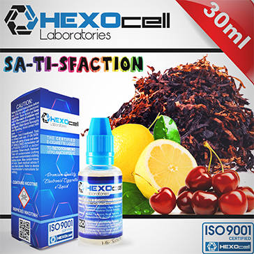30ml SA-TI-SFACTION 6mg 80% VG eLiquid (With Nicotine, Low) - eLiquid by HEXOcell