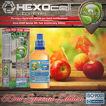 60ml FOREST APPLEZ SPECIAL EDITION 9mg High VG eLiquid (With Nicotine, Medium) - Natura eLiquid by HEXOcell