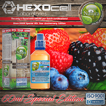 60ml FOREST FRUITZ SPECIAL EDITION 9mg High VG eLiquid (With Nicotine, Medium) - Natura eLiquid by HEXOcell