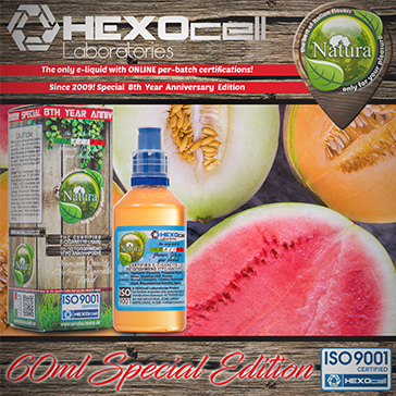 60ml FOREST MELONZ SPECIAL EDITION 6mg High VG eLiquid (With Nicotine, Low) - Natura eLiquid by HEXOcell