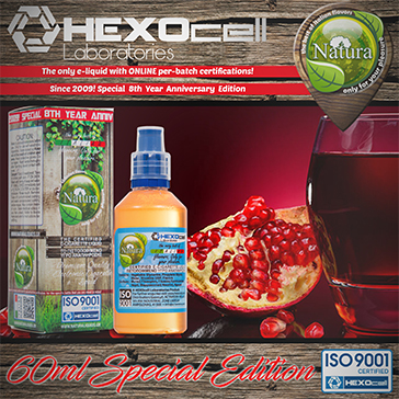 60ml FOREST POMEGRANATEZ SPECIAL EDITION 9mg High VG eLiquid (With Nicotine, Medium) - Natura eLiquid by HEXOcell