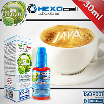 30ml JAVA COFFEE 6mg 80% VG eLiquid (With Nicotine, Low) - Natura eLiquid by HEXOcell