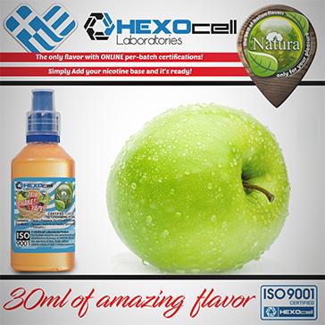 D.I.Y. - 30ml GREEN APPLE 0mg 65% VG TPD Compliant Shake & Vape eLiquid by Natura