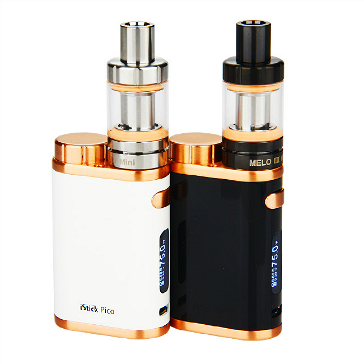 KIT - Eleaf iStick Pico 75W TC Full Kit ( Jet Black & Bronze )