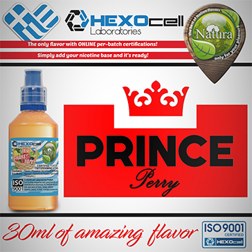 D.I.Y. - 30ml PRINCE PERRY 0mg 65% VG TPD Compliant Shake & Vape eLiquid by Natura