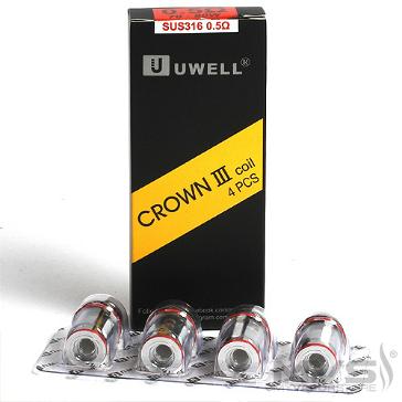 ΑΤΜΟΠΟΙΗΤΉΣ - 4x UWELL Crown 3 Atomizer Heads (0.25Ω, 0.4Ω, 0.5Ω)