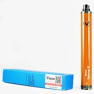 ΜΠΑΤΑΡΙΑ - VISION Spinner 2 (II) 1650mA VV 100% Αυθεντική ( ΠΟΡΤΟΚΑΛΙ )
