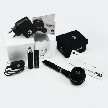 Electronic Cigarette - Janty Neo Classic Auto Airflow Double Kit with Kuwako E-Pipe Extension (Black)