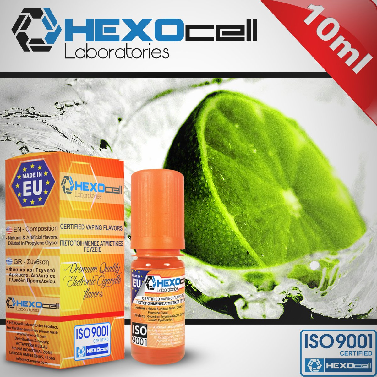 D.I.Y. - ΑΡΩΜΑ - HEXOCELL 10ML - TAHITI LIME (ΛΕΜΟΝΙ ΤΥΠΟΥ ΛΑΙΜ ΤΑΙΤΗΣ) - 7%