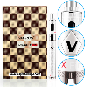 KIT - VISION / VAPROS Spinner 2 (II) Mini 850mA VV BDC Κασετίνα ( 3.3V - 4.8V ) - 100% Αυθεντική ( ΛΕΥΚΟ )