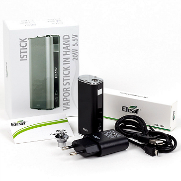 KIT - Eleaf iStick 20W - 2200mA VV/VW ( ΜΑΥΡΟ )